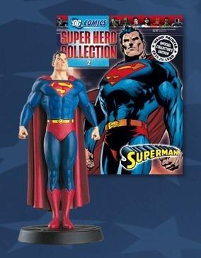 muñeco de plomo superman dc coleccion aguilar
