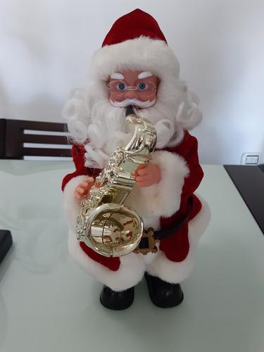 muñeco de santa claus con música 36 cm alto x 15 cm de ancho