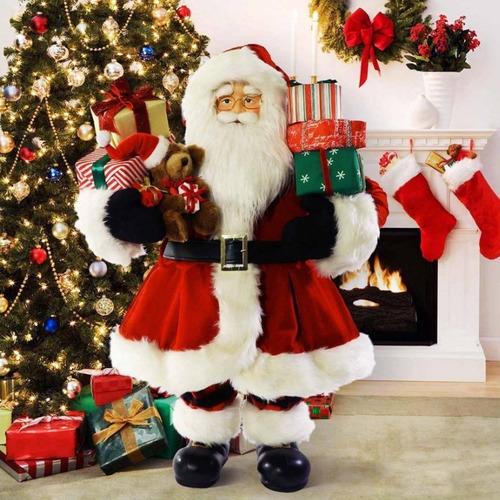 muñeco de santa claus decoracion navideña 81 cm envio gratis