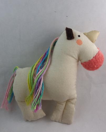 muñeco de tela  unicornio  petit dolls
