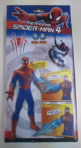 muñeco del hombre araña spider man luz y sonido articulado