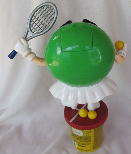 muñeco dispenser m&m tenista