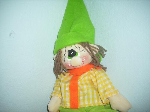 muñeco duende de tela