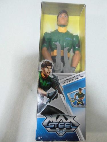 muñeco figura accion max steel mision selva original mattel