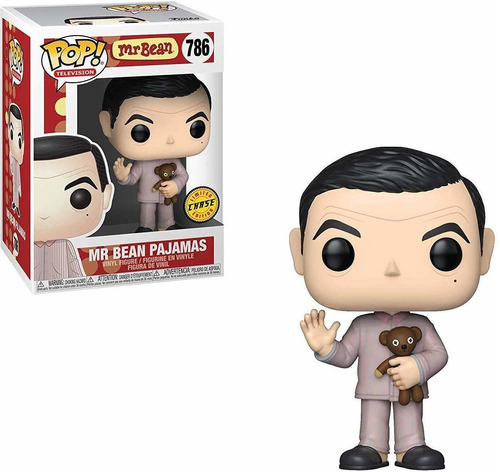 muñeco funko pop mr bean pajamas chase juguete