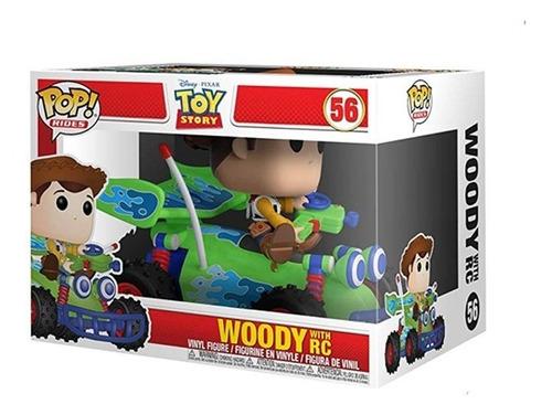 muñeco funko pop, toy story, woody with rc #56