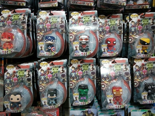 muñeco funko pop vengadores spiderman iron man marvel