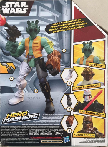 muñeco greedo star wars hero mashers hasbro