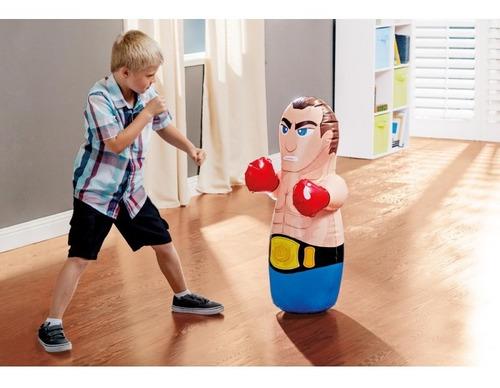 muñeco inflable punching bag boxeador para niños intex
