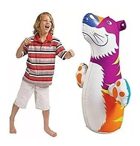 muñeco inflable punching bag tigre para niños intex