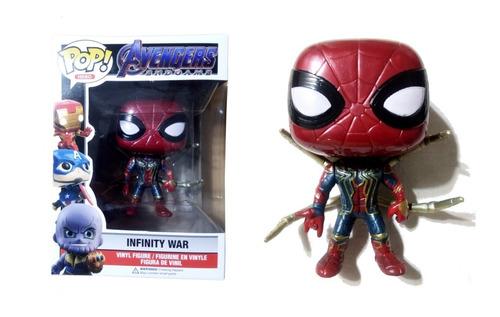 muñeco iron spider símil funko pop! articulado 9 cm