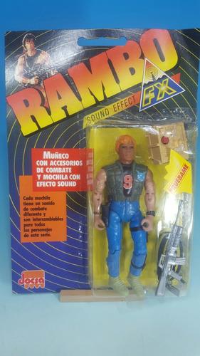 muñeco jocsa- rambo- nuevo en su blister original