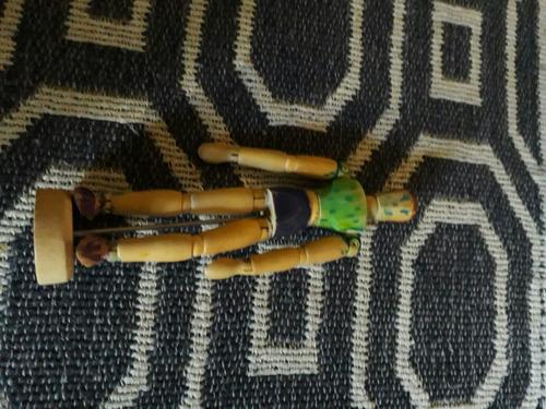 muñeco madera articulado para dibujo