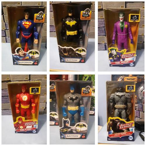 muñeco mattel originales de superman, batman, guason, robin.