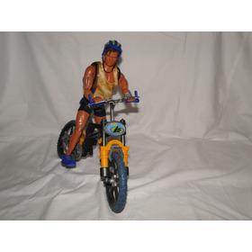 Muñeco Max Steel Y Bicicleta  Original