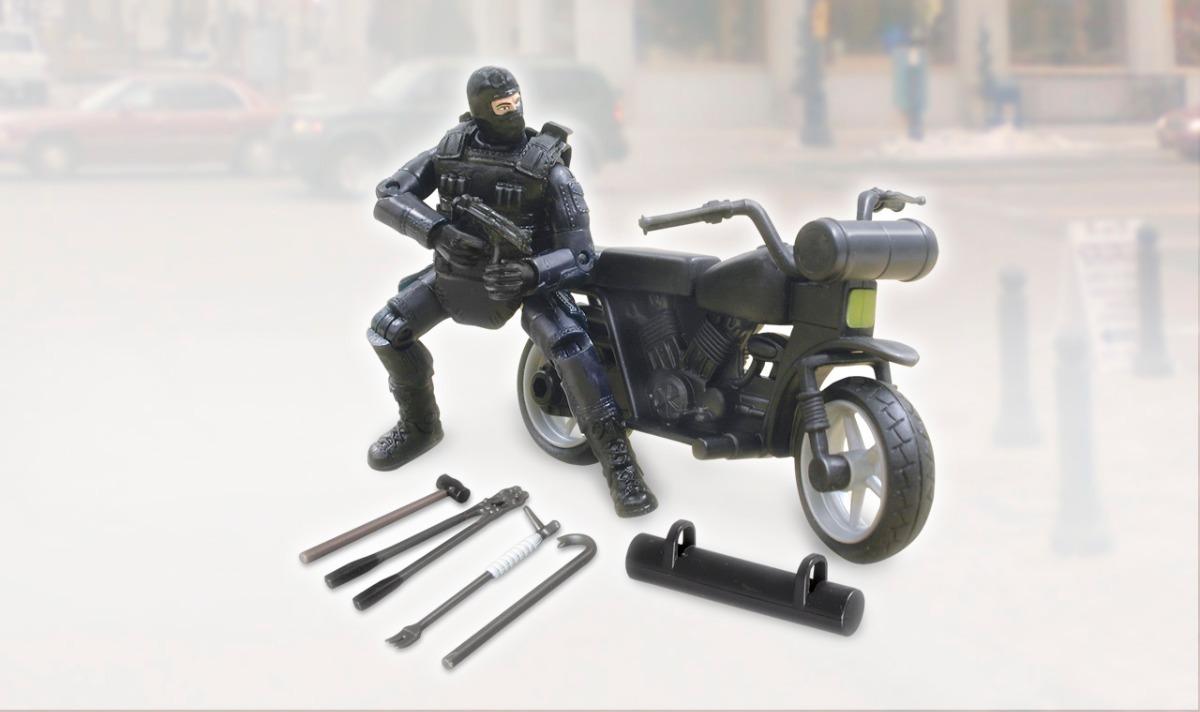 Tipo Swat Joe Policia400 Moto By76ifgyv 00 Juguete Gi Militar Con Muñeco 8XwknP0O