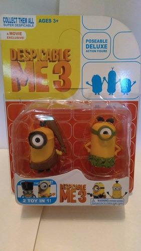 muñeco minions blister x 2 mi villano favorito 3 armonyshop