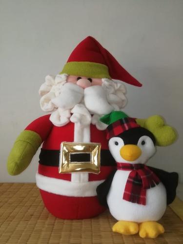 muñeco navideño, santa cluse con ponguinitos