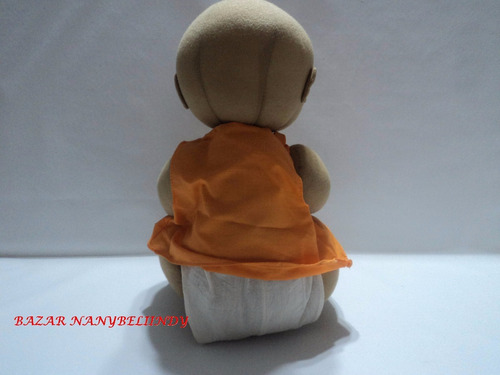 muñeco negrito pelón de tela # 2