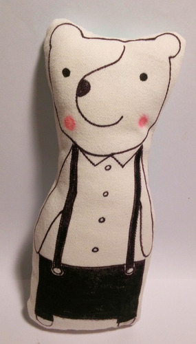 muñeco - oso de tela artesanal