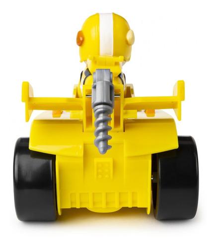 muñeco paw patrol rubble race figura y vehiculo con sonido