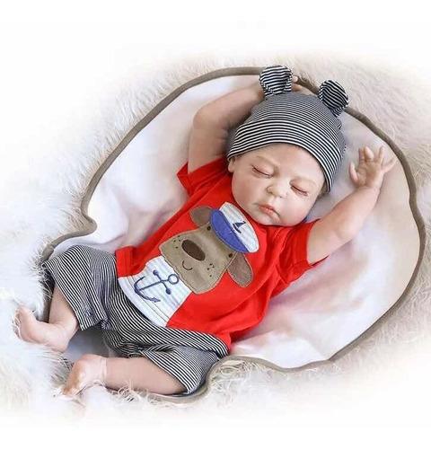 muñeco reborn niño bebe 46cm envio inmediato