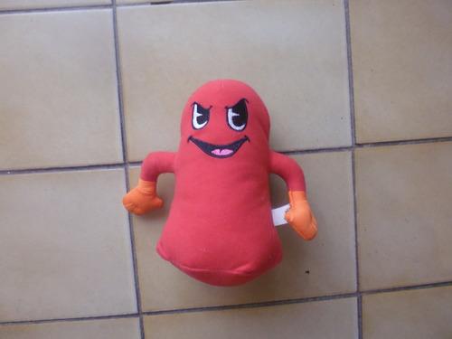 muñeco relleno original etiqueta pac man unico!!