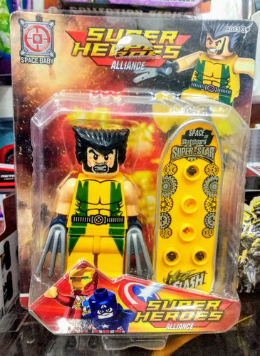 muñeco replica lego superheroes marvel iron man hulk 8cm