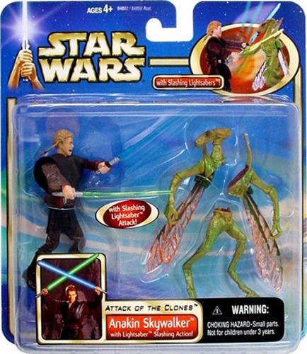 muñeco star wars - anakin skywalker with slashing action