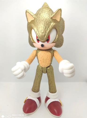 muñeco super sonic dorado golden figura articulable de 24cm