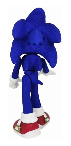 muñeco super sonic hedgehog figura articulable chaos x 24cm