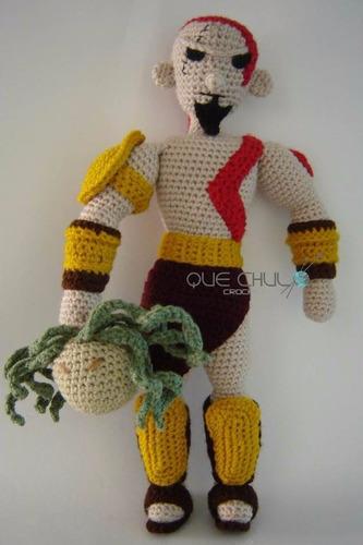 muñeco tejido tipo kratos  god of war