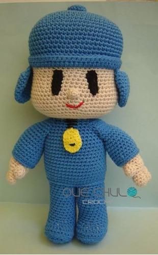 muñeco tejido tipo pocoyo