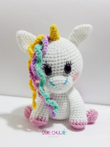 Amigurumi Peluche Bebe Regalo Unicornio Juguete Tejido | Peluches ... | 500x373