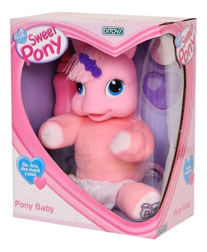 muñeco the sweet pony baby bebote rie llora ditoys original