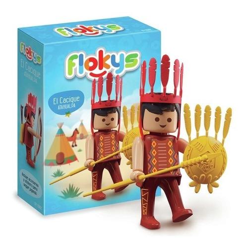 muñeco tipo playmovil flokys el cacique atahualpa