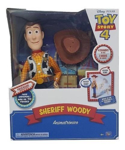 muñeco toy story 4 woody animatronic cae habla 64431 bigshop