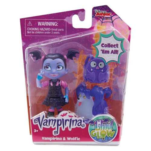 muñeco vampirina individual 8 cm de altura. quepeños