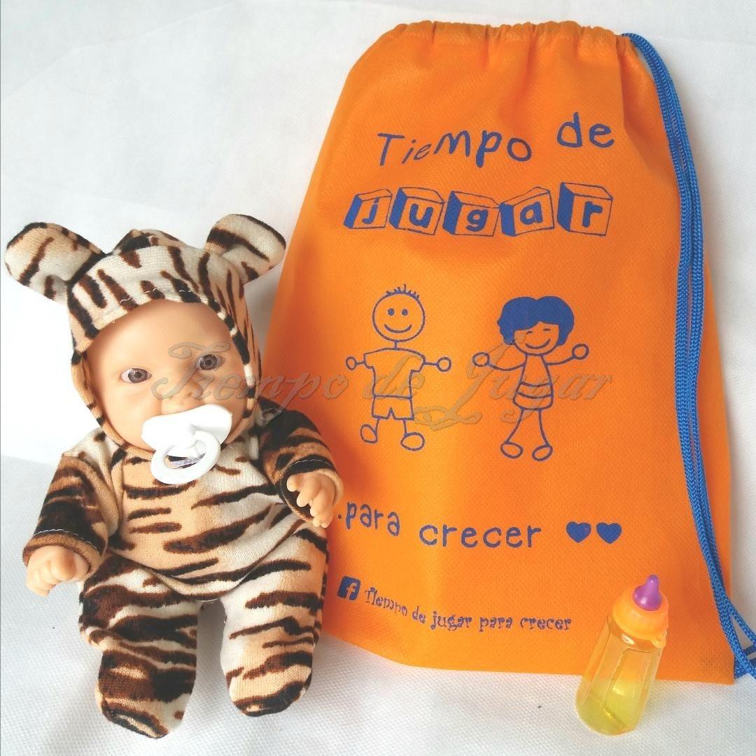 Animalito 20 De Cm Jugar Muñeco Tigre Pvc Tiempo Vestido 4RjL53A