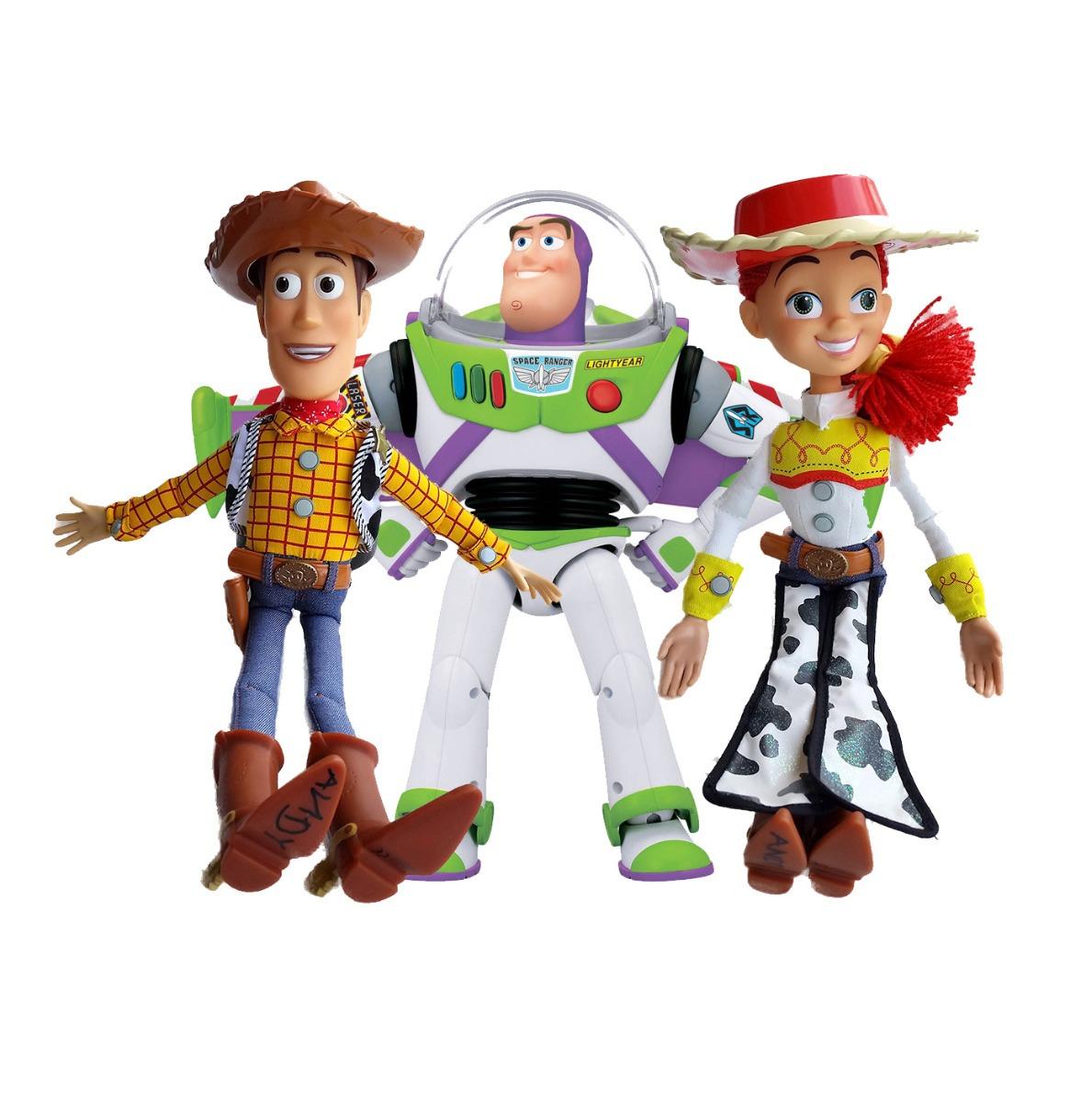 15f89779709f0 Muñeco Woody Buzz Jassie Toy Story Originaldisney 39cm Habla ...