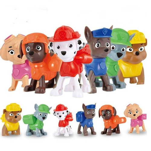 muñeco x 1 paw patrol patrulla para regalo o torta tv