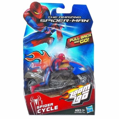 muñeco y moto amazing spiderman cycle zoom go hasbro