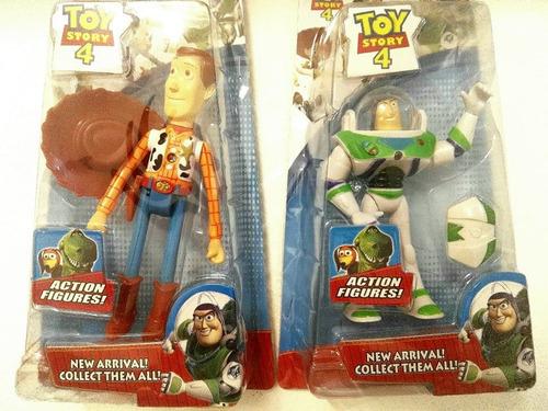 muñecos articulados c/luz toy story 4 buzz lightyear + woody