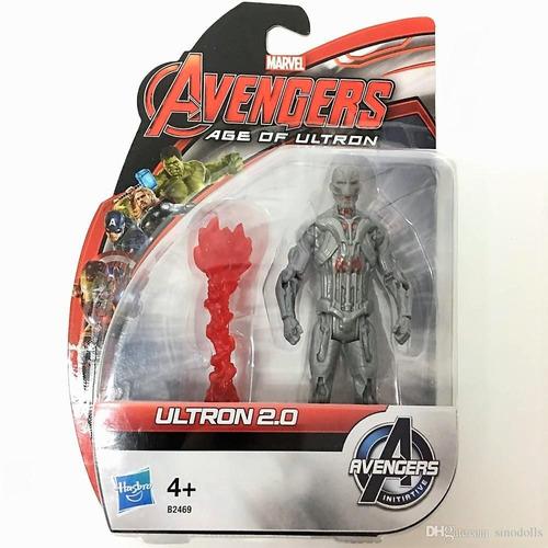 muñecos avengers articulados ultron 2.0 12cm hasbro
