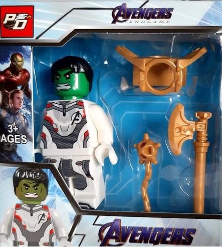 muñecos avengers legos + accesorios