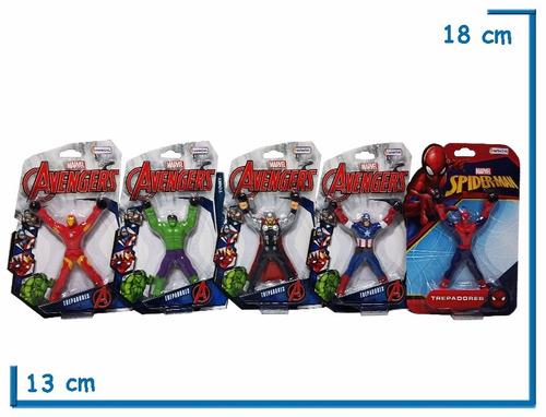 muñecos avengers trepadores 12 cm original casa valente