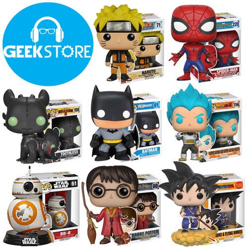 muñecos colección tipo funko pop batman goku varios modelos!