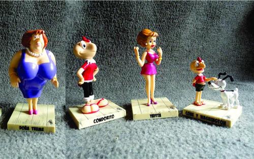 muñecos condorito, yayita ,cone y doña treme