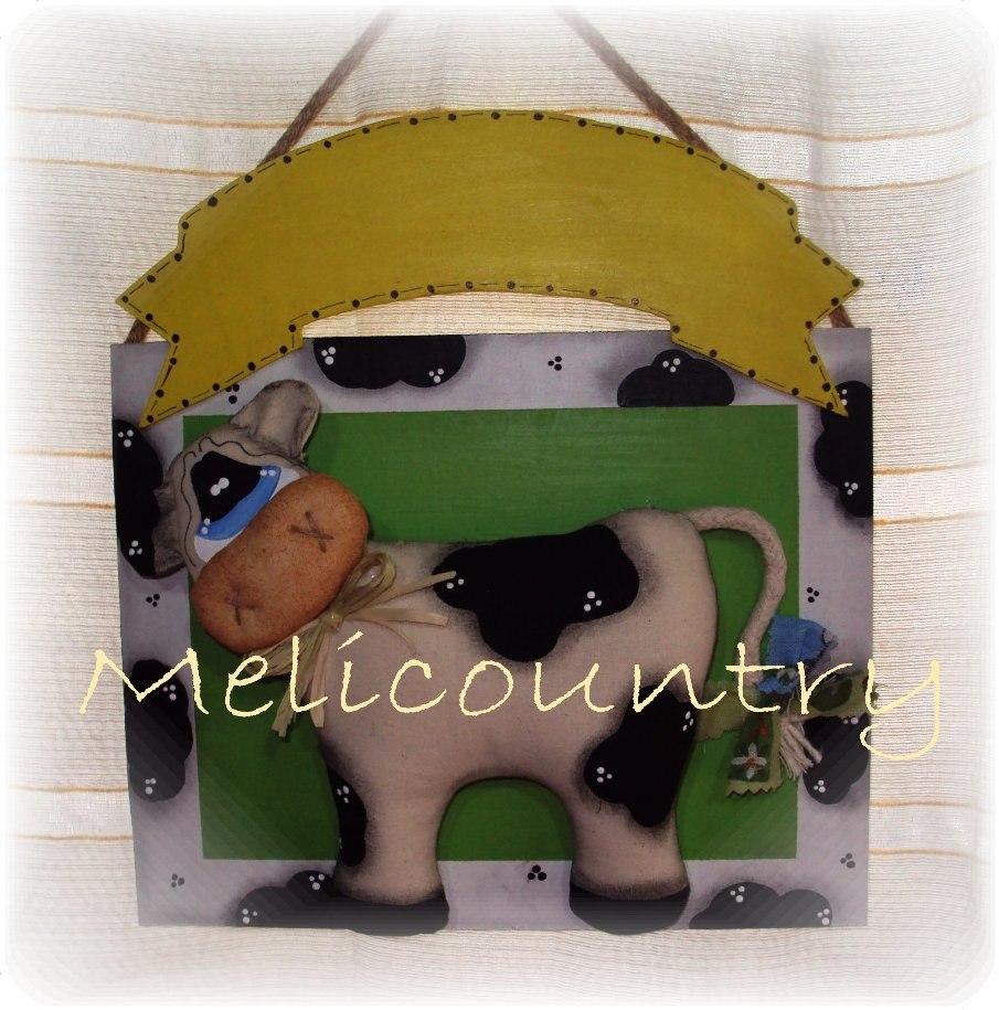 Muñecos Country Cartel Vaca Decoracion Cocina - $ 220,00 en Mercado ...