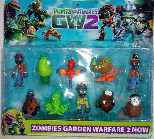 muñecos de coleccion plantas vs zombies gw2 set x10